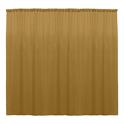 Back Foam Drape - New Creations Fabric & Foam 10 Feet Wide by 10 Feet High Polyester Backdrop Drapes Curtain Panels - (Gold)