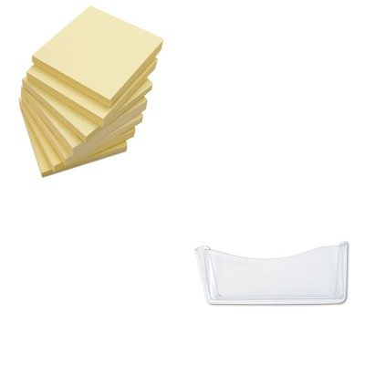 KITRUB65980ROSUNV35668 - Value Kit - Rubbermaid Unbreakable Single Pocket Wall File (RUB65980ROS) and Universal Standard Self-Stick Notes (UNV35668)