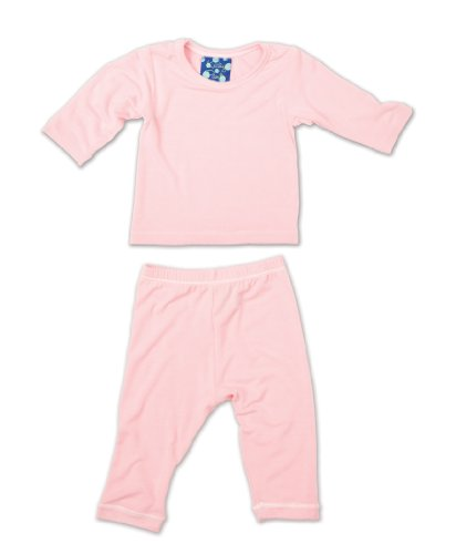 Kicky Pants Long Sleeved Pajama Set, Lotus, -3 Months - Kicky Pants Baby Clothes