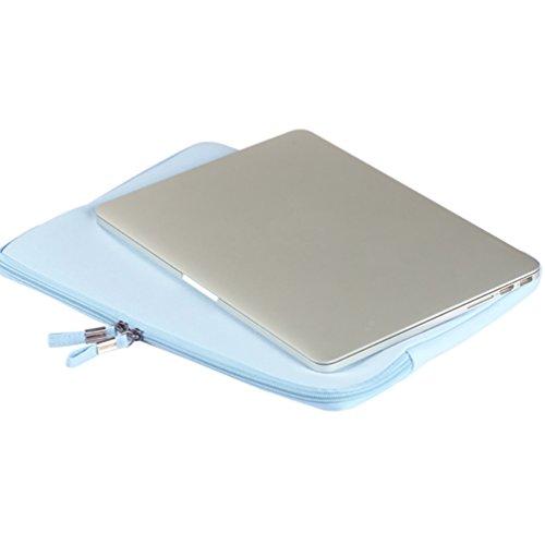 YiJee Funda para Portátiles con el Bolso Extra Ordenador Portátil Caso para Computadora 11.6 Pulgada Azul Claro