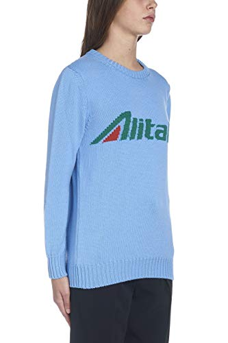 Alberta Maglione Ferretti Azzurro Donna Lana J098116131294 OrHqO0w