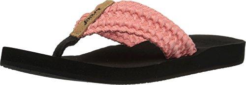 - Reef Cushion Threads Womens Sandal Coral 9