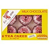 TUNNOCK'S Tea Cakes - Real Milk Chocolate 6 x 24g Box