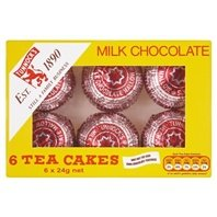 Biscuit Cake Chocolate - Tunnock's Tea Cakes Milk Chocolate 6 x 24g - Pack of 6