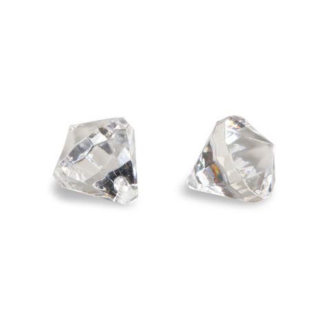 Acrylic Diamond Shape - David Tutera Faceted Acrylic Diamond Shape with Charm Hole - Clear - 1/2 inches - 160 pieces