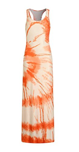Loose Long s Women Maxi Print Beach Dress Casual Jaycargogo Pattern 6 Sleeveless Ypwzw6q