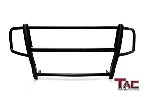 TAC Grill Guard Custom Fit 2014-2018 Dodge Ram Pro-Master Van (Full Size) Black Front Runner Guard Brush Nudge Bar Push Bull Bar Bumper Guard Off Road Exterior Accessories