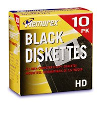 "B00004Z59R Memorex MF2HD 3.5"" PC-Formatted High-Density Floppy Disks (Black, 10-Pack) (Discontinued by Manufacturer) 31NVQ9RQ70L"