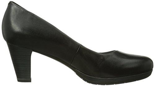 Zapatos 001 cuero vestir para negro de Tamaris mujer Black Schwarz 22404 de 6qpP5R