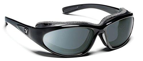 7eye Men's Bora Nxt Photo Resin Sunglasses,Glossy Black Frame/24:7 NXT Original Lens,one - Sunglasses 24/7