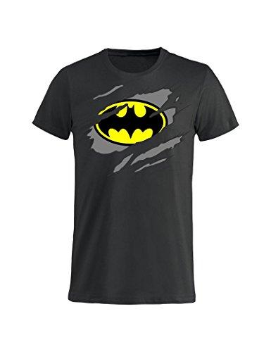 Tuttoinunclick Bruce Wayne Uomo Cartoni Batman Animati Gr264 Nera T Bambino L Idea Donna Regalo Nera shirt fXqfwr