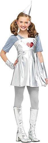 Toddler Tin Girl Costumes (Girls Wizard Of Oz Tin Kids Child Fancy Dress Party Halloween Costume, S (4-6))