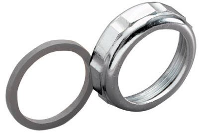 Keeney Slip Joint Nut and Washer, Chrome