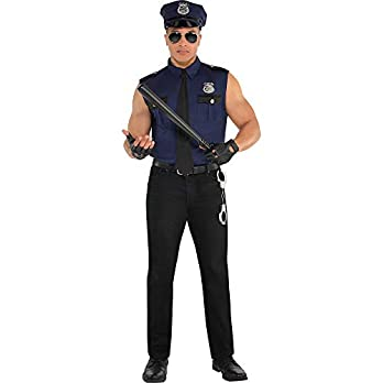 Adults Mens Under Arrest Police Officer Fancy Dress Costume