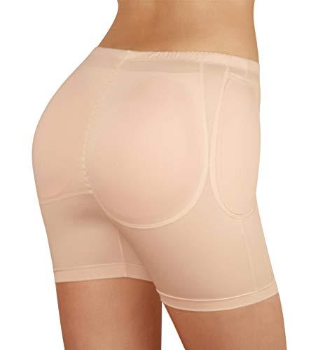 SodaCoda Women's Grand Hip & Butt Enhancer - Heavy - 2 Silicone, 2 Foam Pads (Nude, XXL)