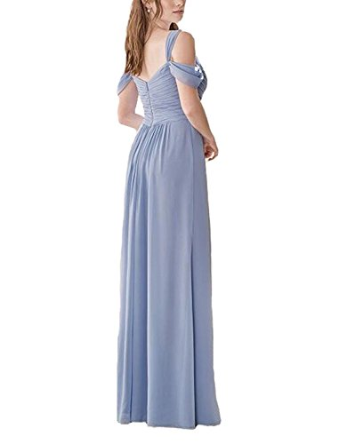 Womens Dress Prom Off Slit Formal Bridal Long Evening Shoulder Lavender The Dresses Annas wqRCHn