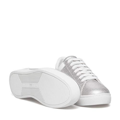 Armani Heel Metallic Mode Logo Baskets Court Emporio Femme dwq58wC