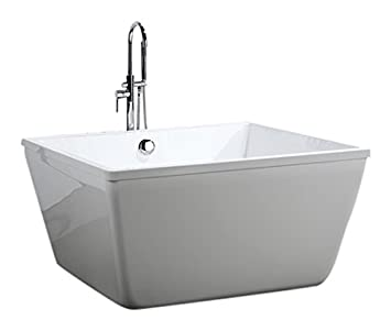 Great Bellaterra Home BA6806 Bologna 47 Inch Freestanding Bathtub In Glossy White