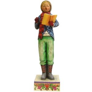 Jim Shore Heartwood Creek Boy Caroler Christmas Figure #4005297