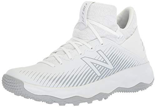 New Balance Men's Freeze V2 Box Agility Lacrosse Shoe, White/Silver, 12 2E US