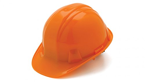 Pyramex Standard Shell Snap Lock Suspension Hard Hat, 6 Point Snap Lock Suspension, Orange by Pyramex Safety