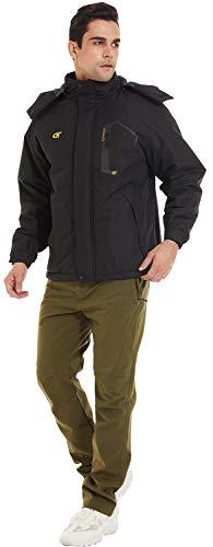 QPNGRP Mens Waterproof Ski Snowboard Jacket Windproof Winter Mountain Snow Coat