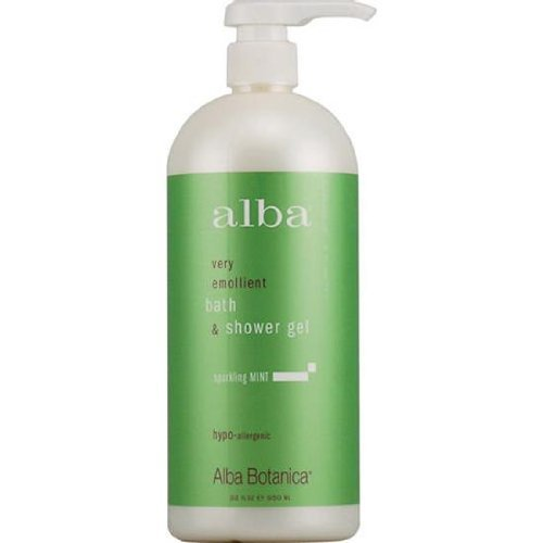 Alba Sparkling Mint Body Bath and Shower Gel, 32 Ounce - 3 per case.