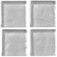 200g Soft-Glassteine Metallic 20x20mm Silber