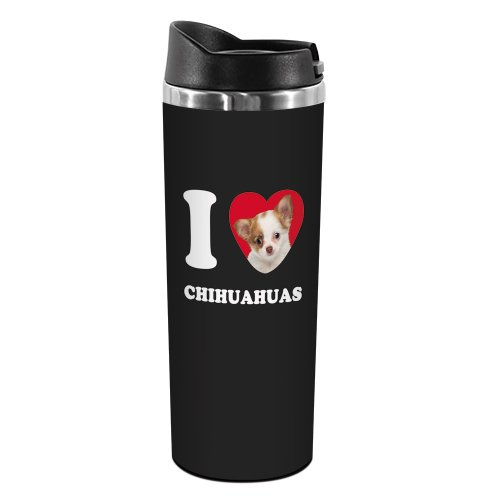 I Heart Chihuahuas Travel Mug14 OunceTumbler