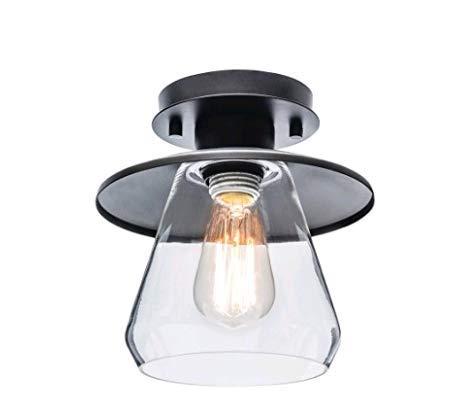 Lightsjoy Luces de techo de vidrio industrial lámpara ...