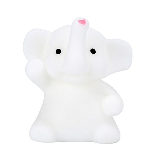 Squishies WILLTOO 4CM Cute Mochi Mini Scented Slow Rising Squishy Decompression Soft Kids Toys Gifts (White)