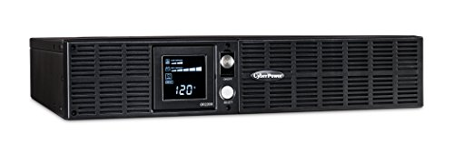 CyberPower OR2200LCDRT2U Smart App LCD UPS System, 2200VA/1320W, 8 Outlets, AVR, 2U Rack/Tower ()
