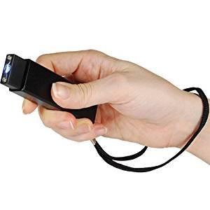 Slider 3 Million Volt Mini Stun Gun Flashlight Black