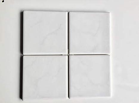 Piastrelle 15 x 15 bitech ceramica porcellanata in pasta bianca in 1