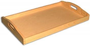 Midacreativ Grosses Holz Tablett 50 X 30 Cm Kiefer Unbehandelt
