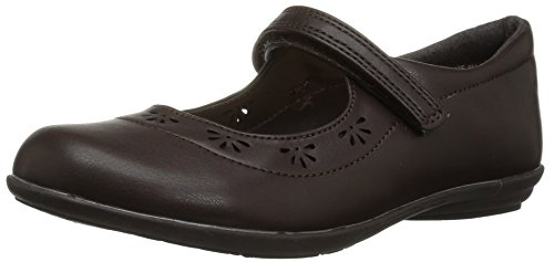 The Children's Place Girls' E BG UNIF Class Uniform Dress Shoe, Brown, Youth 5 Youth US Big Kid ()