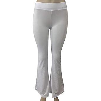 Pantalón de Campana de Cintura Alta para Mujer Pantalón ...