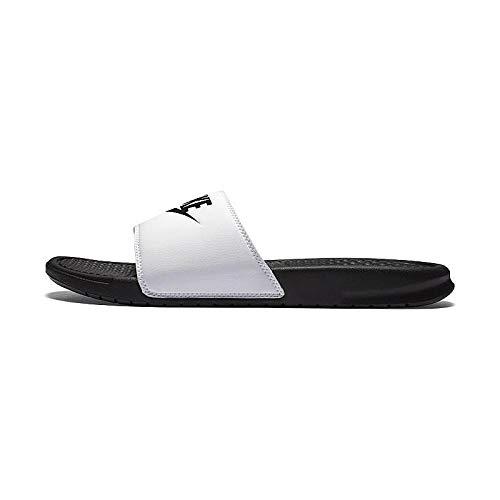 best website b32b6 dbbdb Nike Benassi JDI Mens Sandals White Black 343880-100 (8 D(M) US)