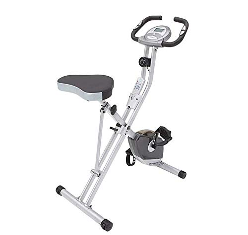 Buy LAZZO Indoor Folding Magnetic Slim Exercise Bike | Bundle Includes Larger Soft seat,Cell Phone...