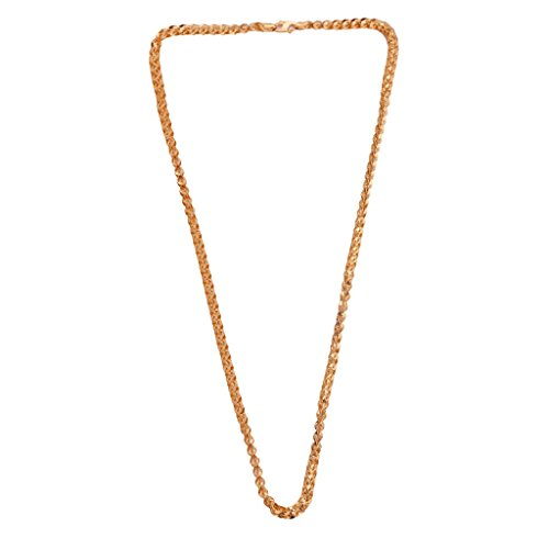 22k Yellow Gold Interlocking Rope Chain 20 inch - Versace Is Real Gold