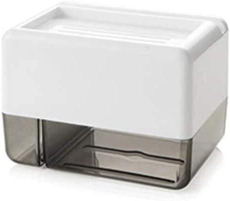 Dmqpp Wand- Badezimmer-Gewebe-Zufuhr-Gewebe-Kasten-Halter for Rollenpapier Handtücher Handy-Rack-Weiß (Color : Black)