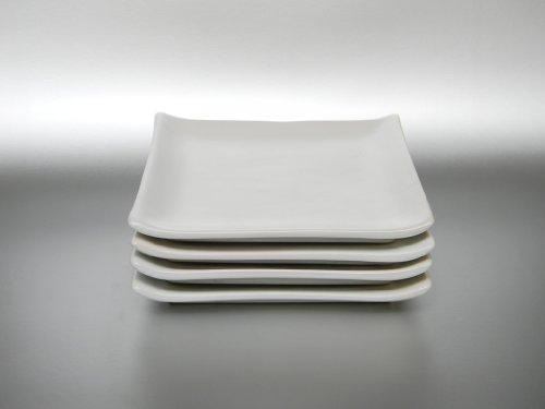 Sushi Teller-Set 4-teilig Steingut (3573/weiss)