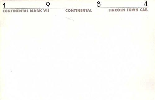 1984 Lincoln Sales Brochure Literature Book Piece Options Colors Specs