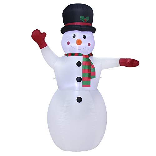 GABOSS 8Ft Christmas Inflatable Snowman LED Light Up Christmas Xmas for Blow Up Yard Decoration,ndoor Outdoor Garden Christmas Decoration