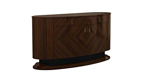American Modern Sideboard - American Eagle Furniture BF-P109 Fernley Modern 2-Drawer 2-Door Dining Room Buffet, Walnut