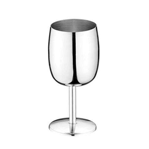 LM Copas de Vino de Acero Inoxidable, Copas de Metal Que beben Vasos Copas de cóctel Superficie de Lijado,para Bar