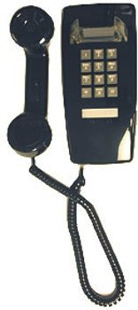 Cortelco 2554 Single-Line Wall Corded Telephone with Volume Control, Black