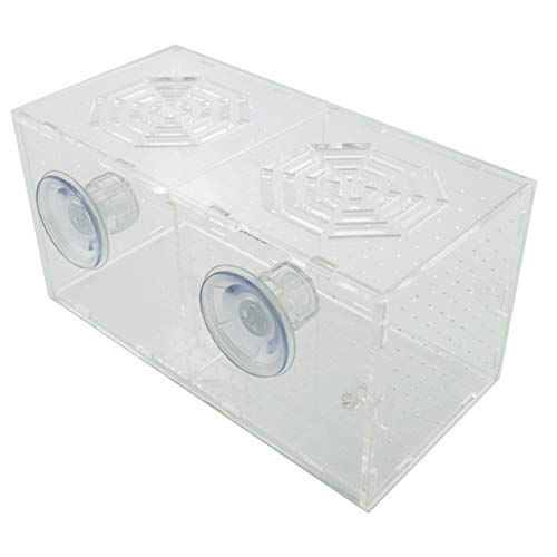 GOOBAT Acrylic Aquarium Breeder Box for Fish Tank Double Guppies Hatching
