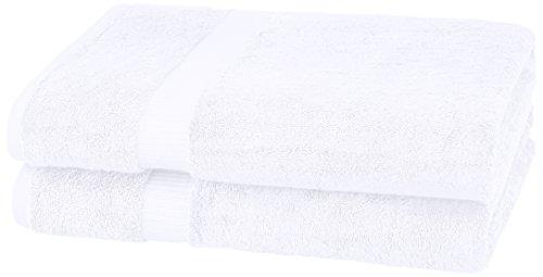 Pinzon Organic Cotton Bath Sheet Towel, Set of 2, White