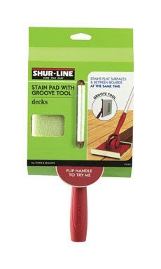 Shur-Line 1791257 Deck Stain Pad with Groove Tool